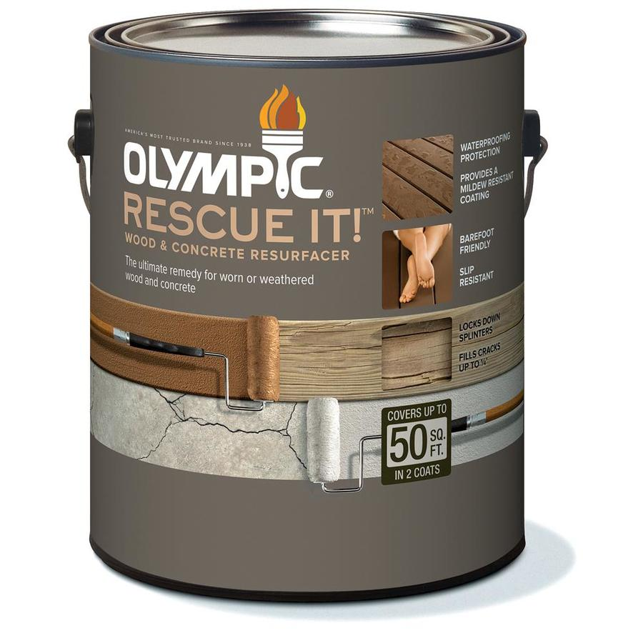 Olympic Rescue It Tintable Base 2 Restoration Textured Solid Exterior Stain (Actual Net Contents: 342-fl oz)