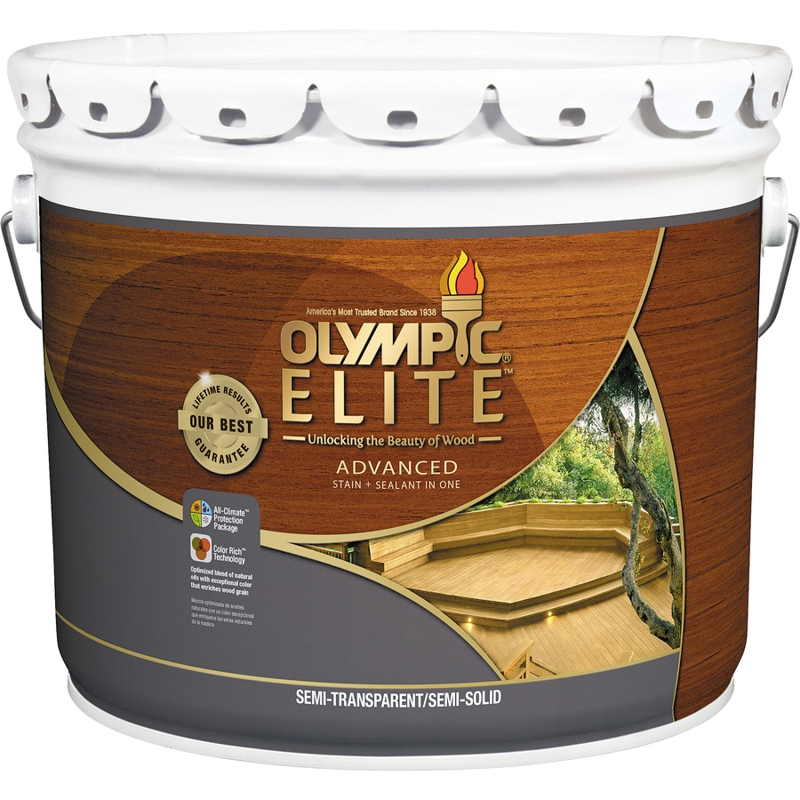 Olympic Elite Tintable Brown Base Semi-Transparent/Semi-Solid Exterior Stain (Actual Net Contents: 360-fl oz)