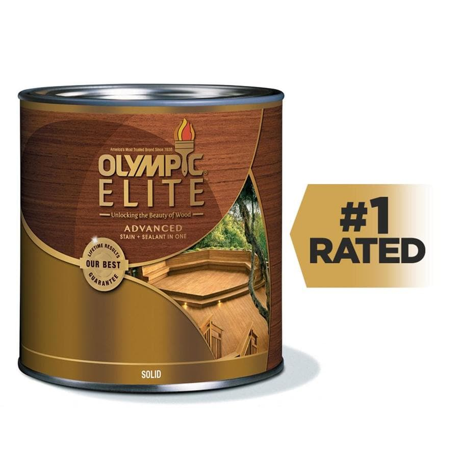 Shop Olympic Elite Tintable Base 2 Solid Exterior Stain Actual Net Contents Oz At