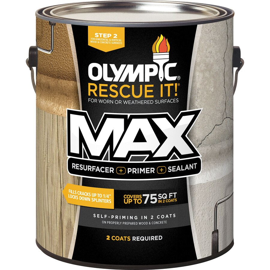 Shop Olympic Rescue It Max Tintable Base 2 Restoration Textured Solid Exterior Stain Actual