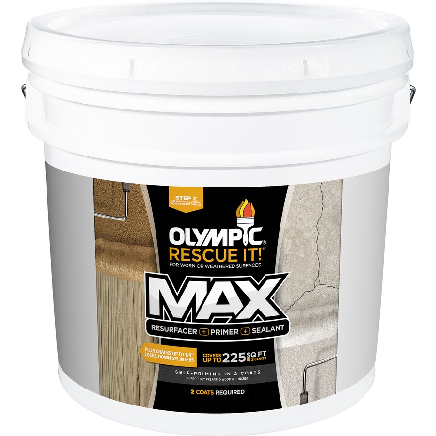 Olympic Rescue It! Max Tintable Base 2 Restoration Textured Solid Exterior Stain (Actual Net Contents: 342-fl oz)