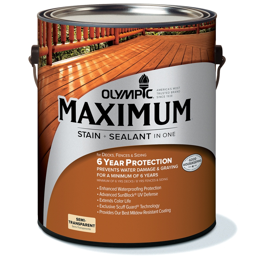 Olympic Maximum Redwood Naturaltone Semi-Transparent Exterior Stain (Actual Net Contents: 128-fl oz)