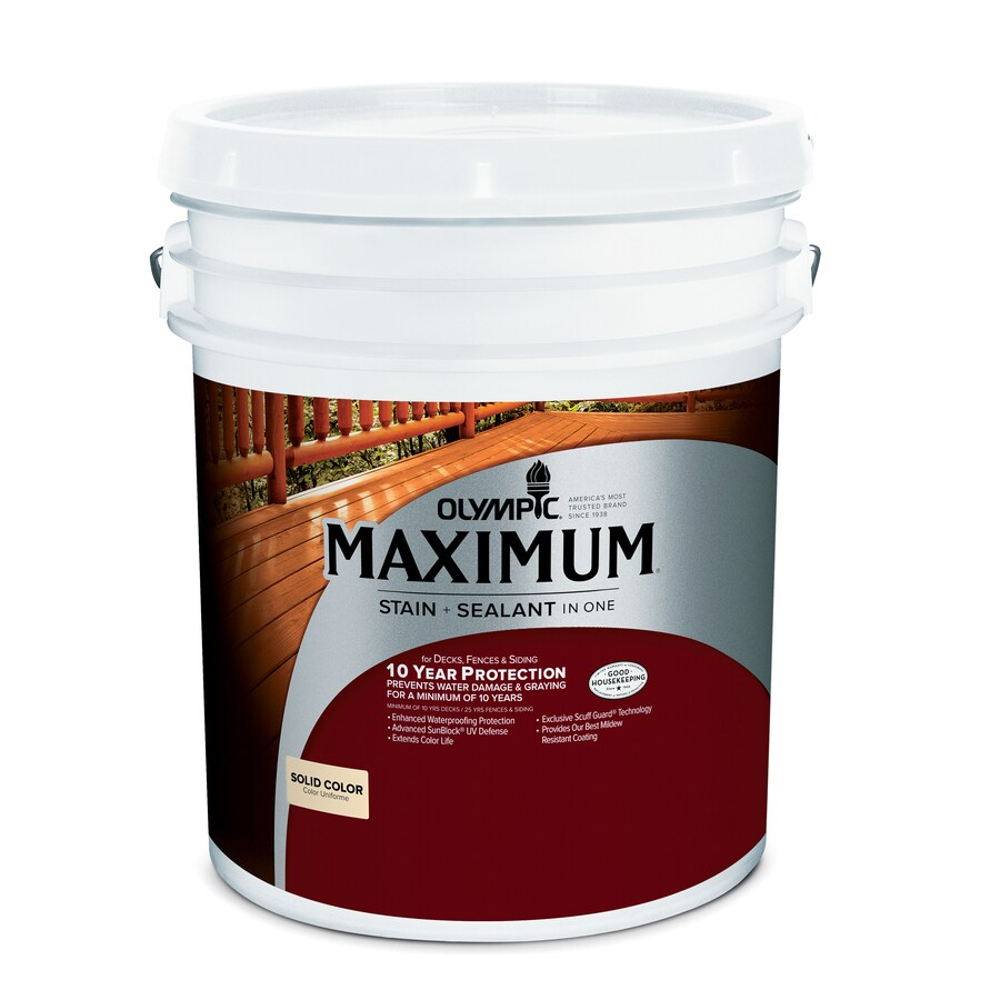 Olympic Maximum Tintable Multiple Solid Exterior Stain (Actual Net Contents: 609.28-fl oz)