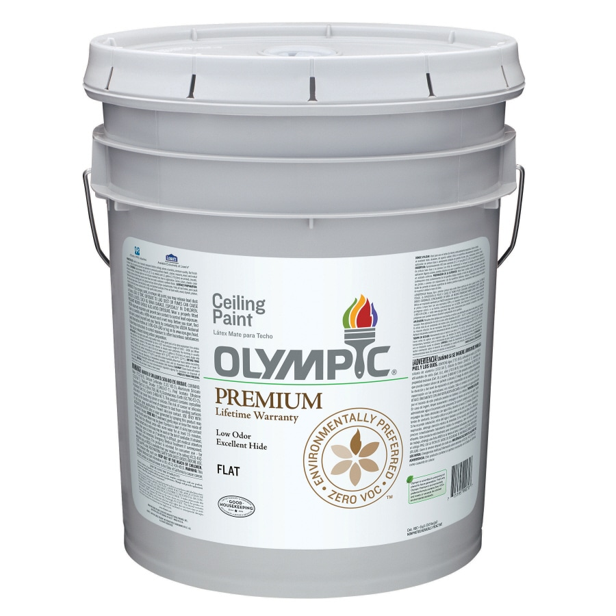 Olympic Ceiling White Flat Latex Interior Paint (Actual Net Contents: 619-fl oz)