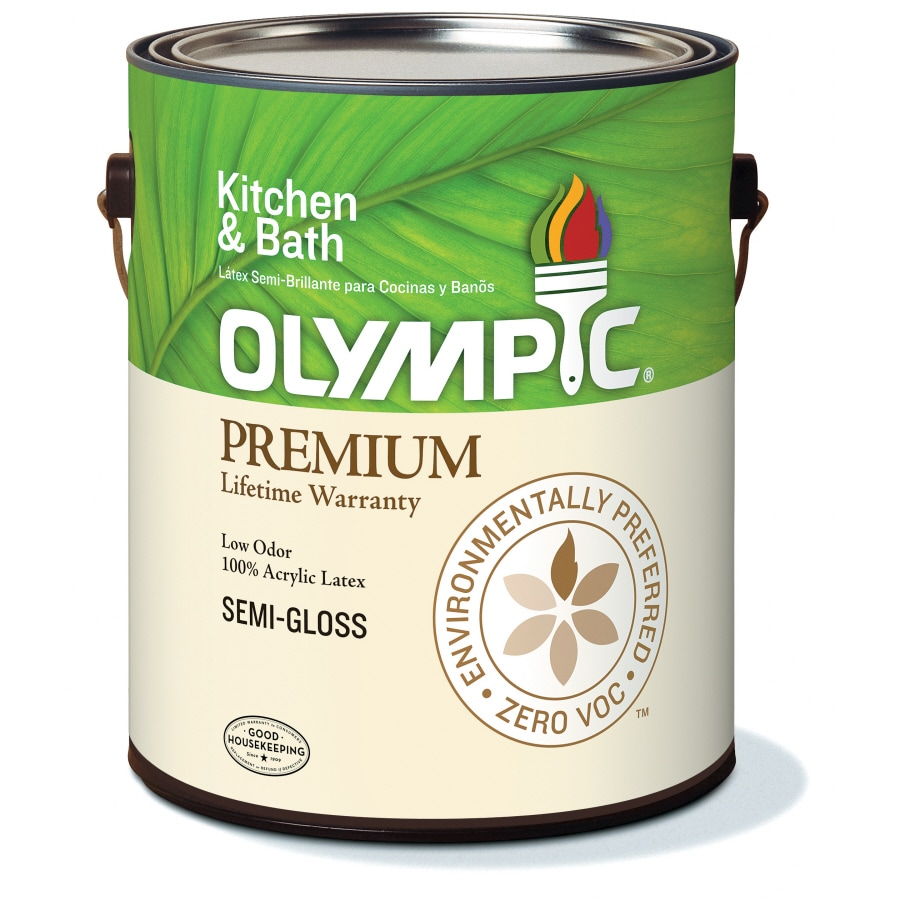 Olympic 1-Gallon Interior Semi-Gloss White Latex-Base Paint