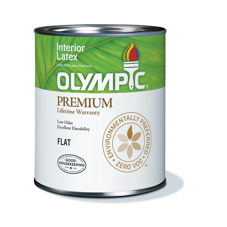 Olympic White Flat Latex Interior Paint (Actual Net Contents: 31-fl oz)