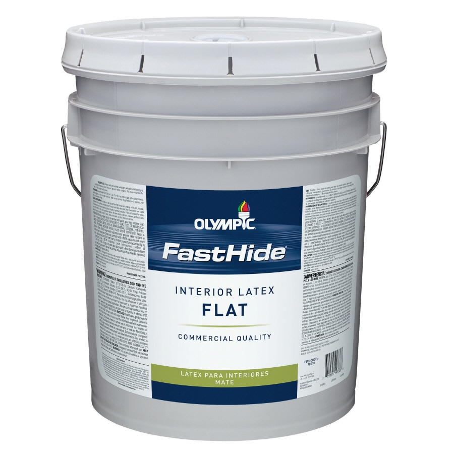 FastHide 5-Gallon Interior Flat White Latex-Base Paint