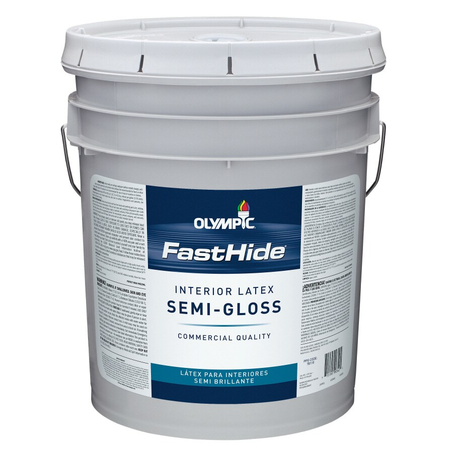FastHide 5-Gallon Interior Semi-Gloss Off White Latex-Base Paint