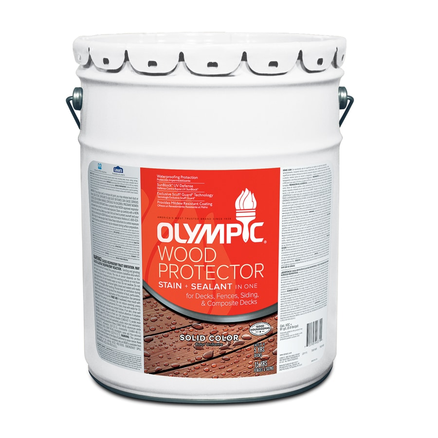 Olympic 5- Gallon(S) Multiple Solid Exterior Stain