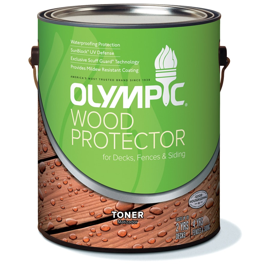 Olympic Wood Protector Honey Gold Semi-Transparent Exterior Stain (Actual Net Contents: 128-fl oz)