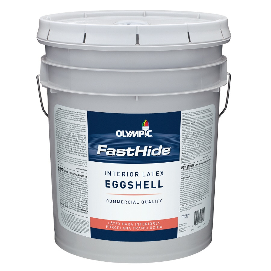 FastHide 5-Gallon Interior Eggshell Off White Latex-Base Paint