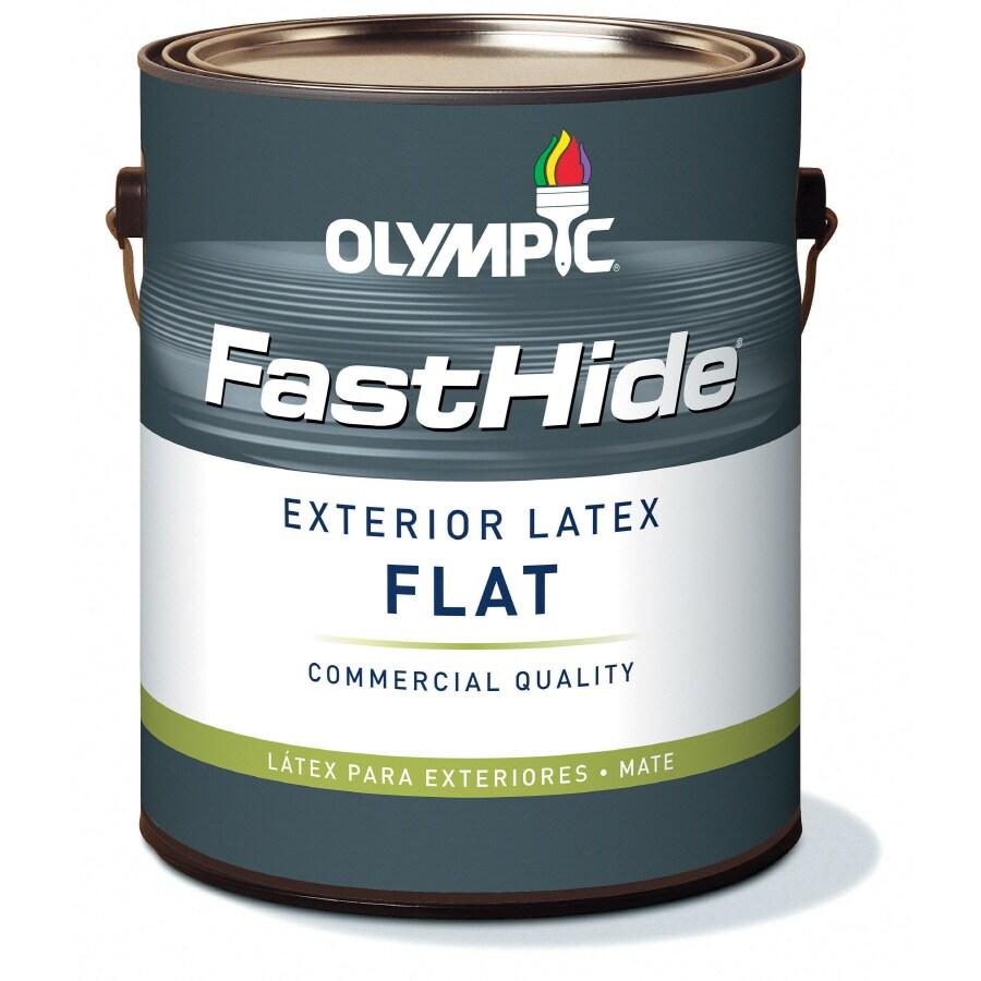 FastHide 1-Gallon Exterior Flat Multi Latex-Base Paint