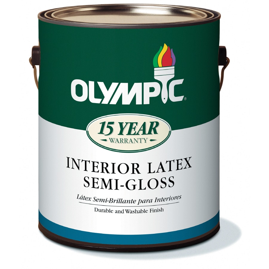 Olympic White Semi-Gloss Latex Interior Paint (Actual Net Contents: 124-fl oz)