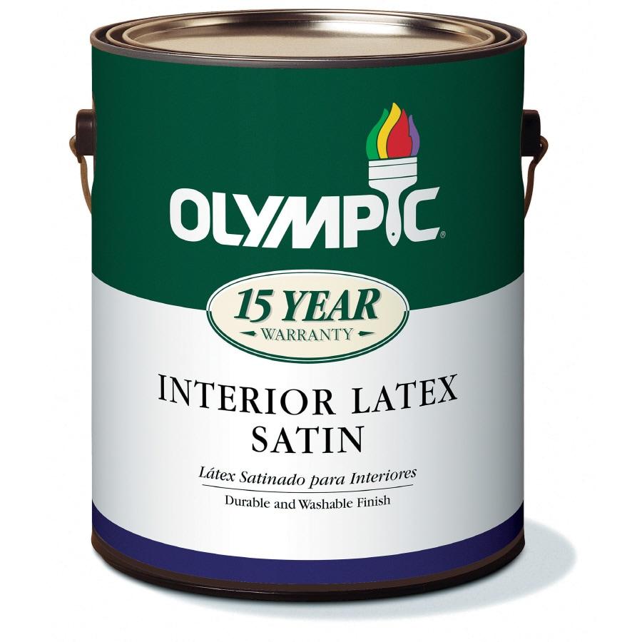 Olympic 1-Gallon Interior Satin White Latex-Base Paint