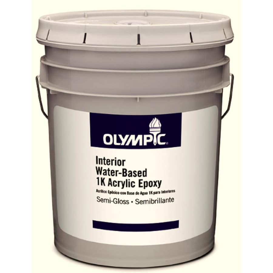 Olympic White Semi-Gloss Latex Interior Paint (Actual Net Contents: 589-fl oz)
