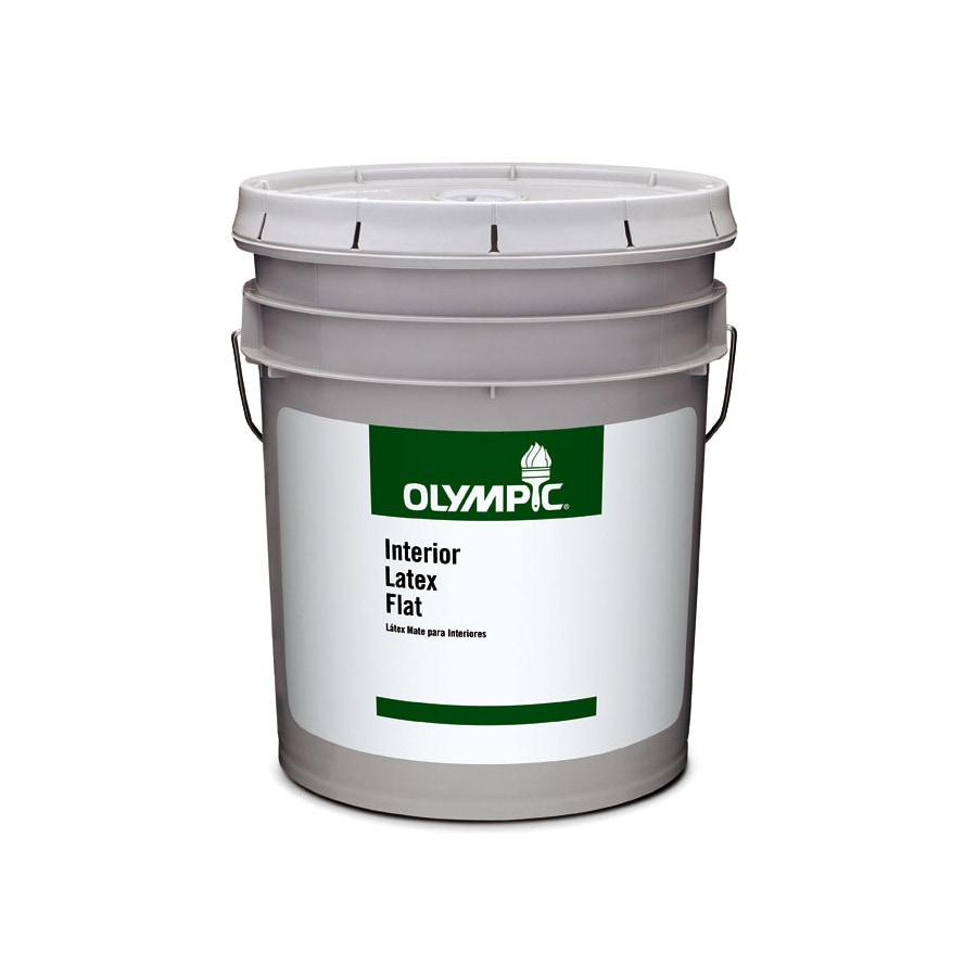 Olympic Clear Flat Latex Interior Paint (Actual Net Contents: 579-fl oz)