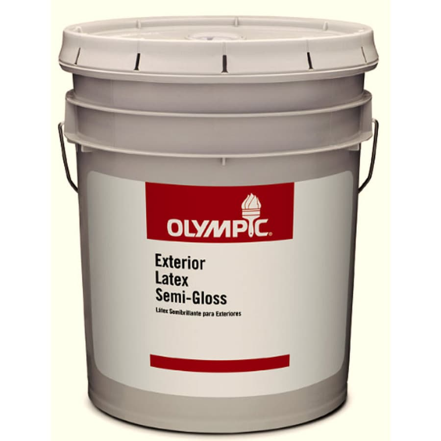Olympic Clear Semi-Gloss Latex Paint (Actual Net Contents: 579-fl oz)
