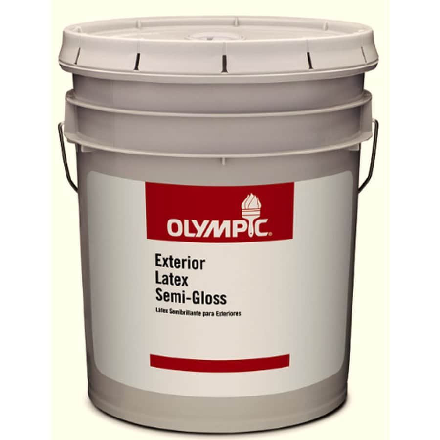 Olympic Clear Semi-Gloss Latex Paint (Actual Net Contents: 569-fl oz)