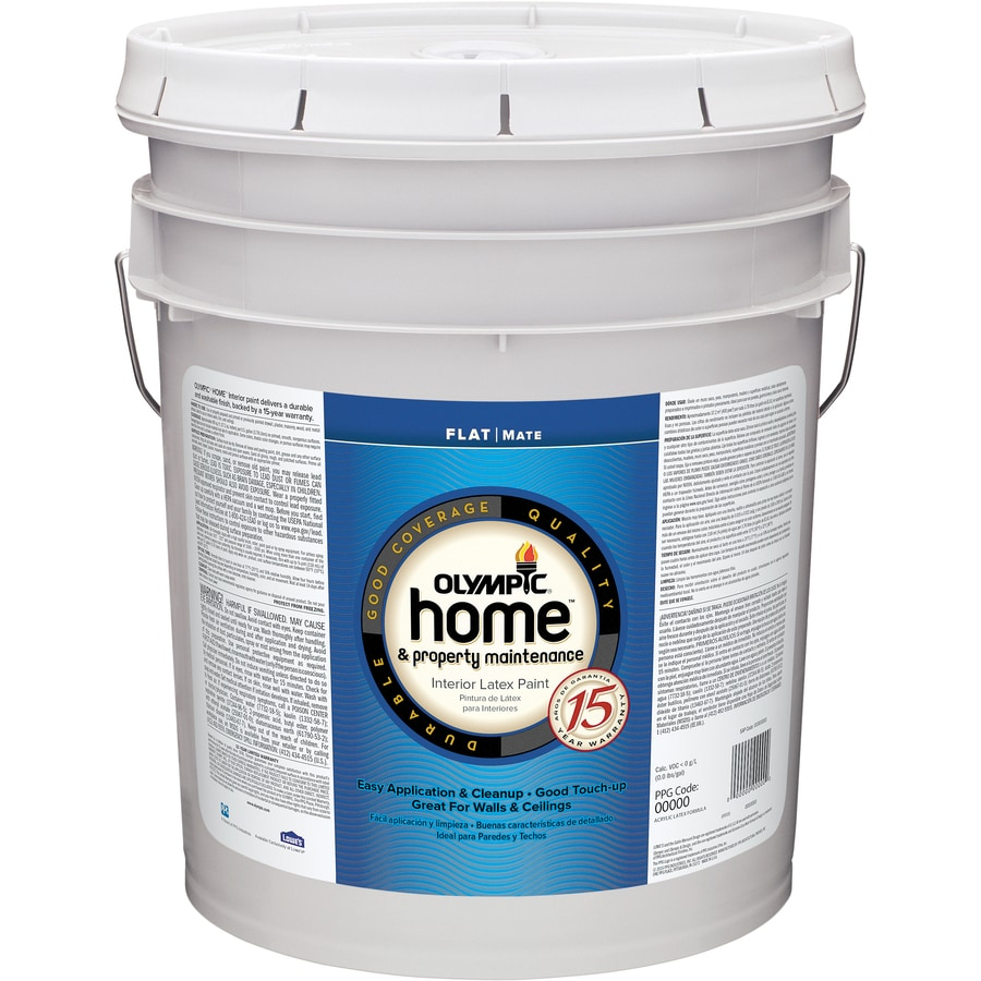 Olympic Home White Flat Latex Interior Paint (Actual Net Contents: 620-fl oz)