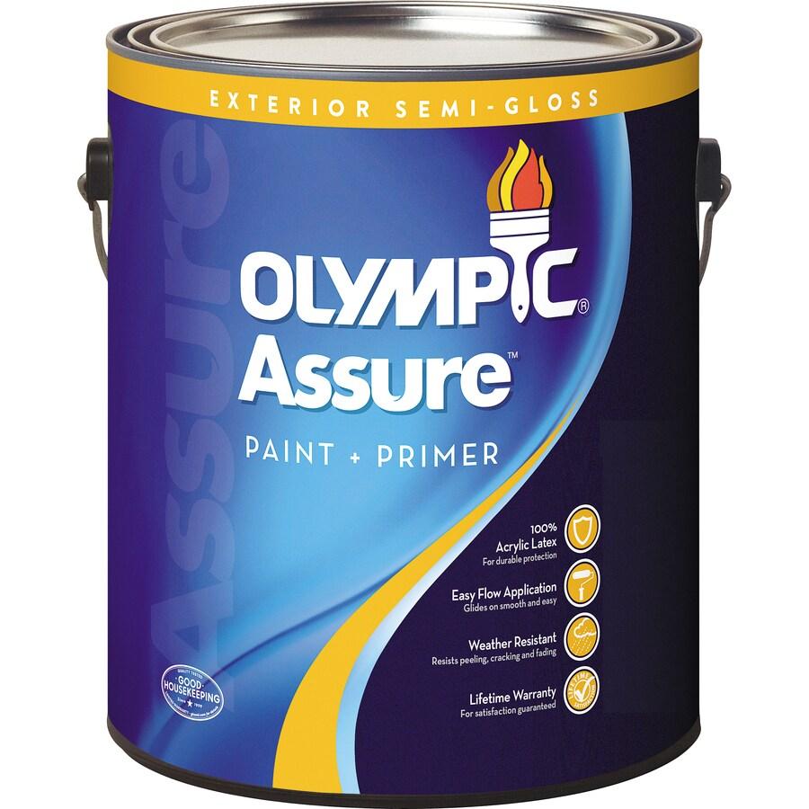 Olympic Assure Semi-Gloss Latex Exterior Paint (Actual Net Contents: 124-fl oz)