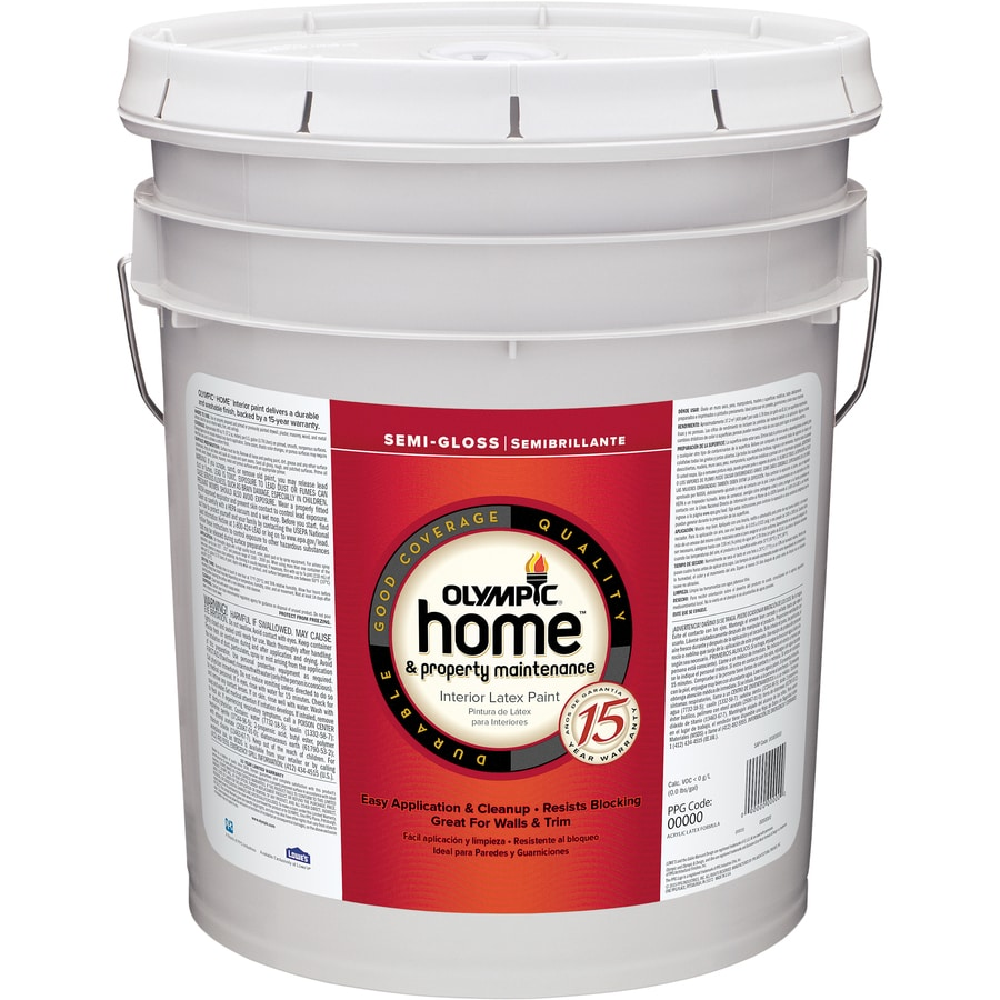 Olympic Home White Semi-Gloss Latex Interior Paint (Actual Net Contents: 620-fl oz)