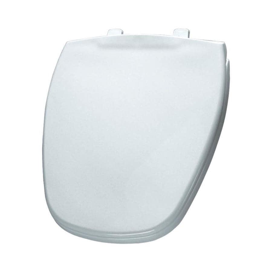 Shop Bemis White Plastic Round Toilet Seat At Lowes Com