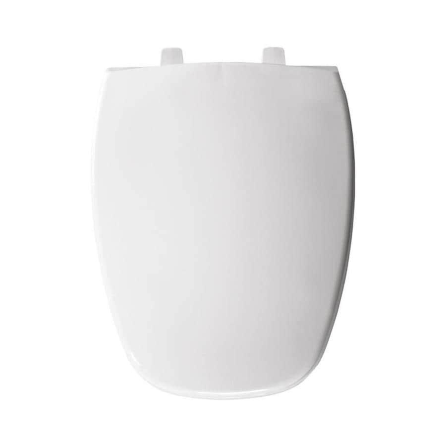Shop Bemis White Plastic Elongated Toilet Seat At