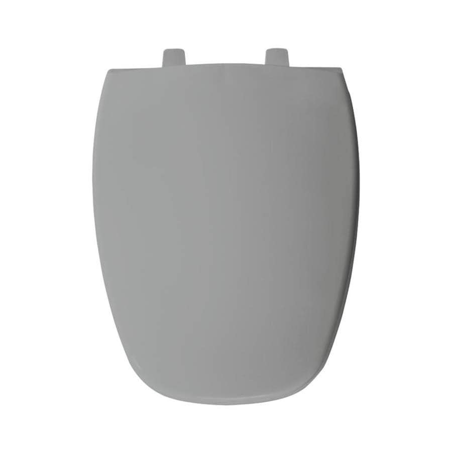 Bemis Silver Plastic Elongated Toilet Seat