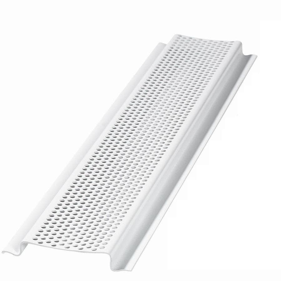 AIR VENT INC. 96-in L White Aluminum Soffit Vent