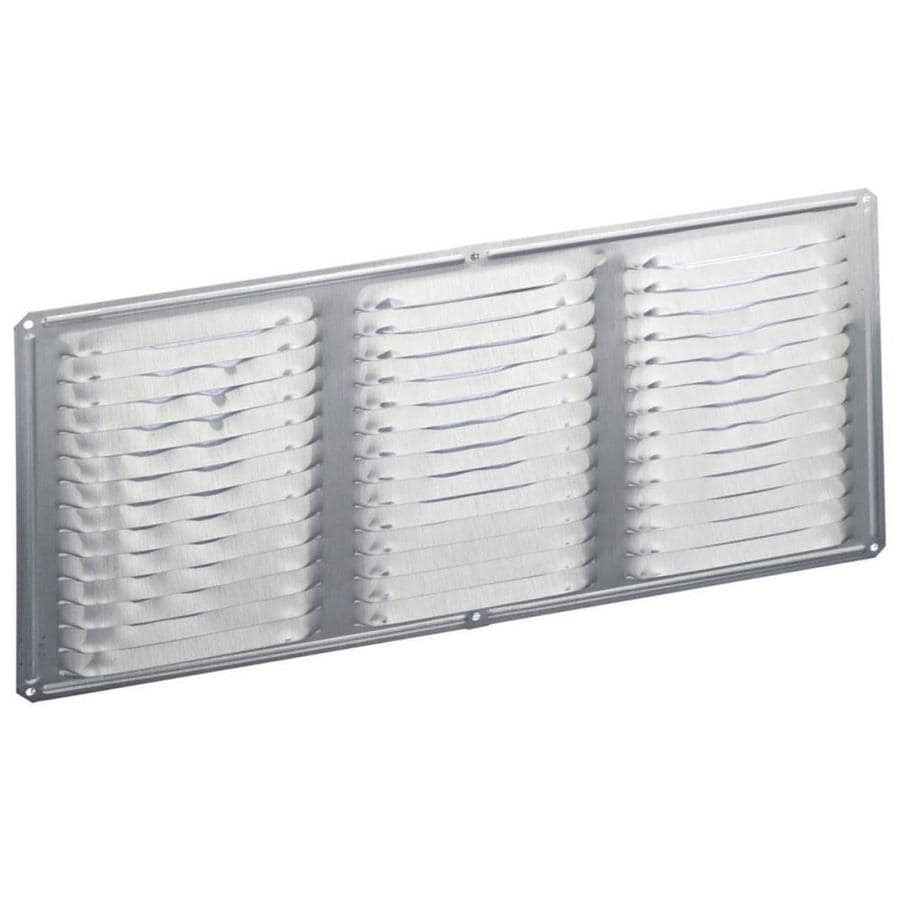 Air Vent 8-in L Mill Aluminum Soffit Vent