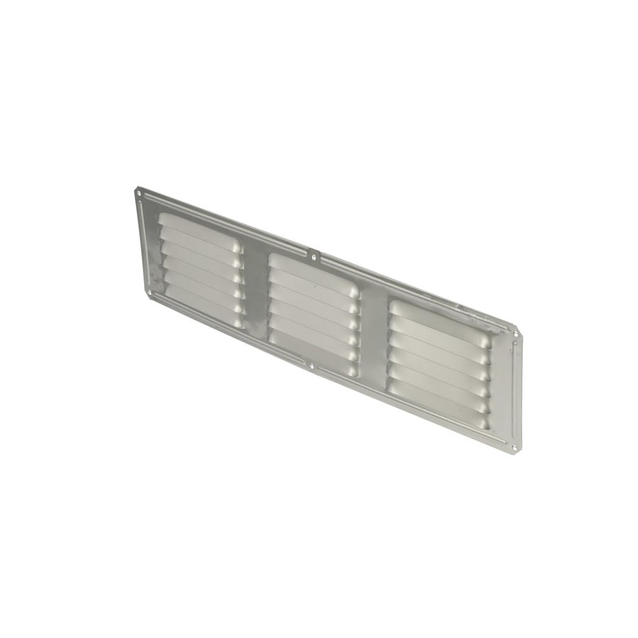 Air Vent 4-in L Mill Aluminum Soffit Vent