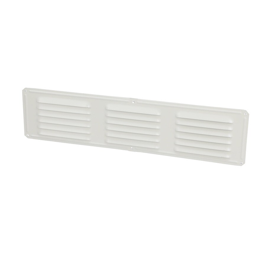 Air Vent 4-in L White Aluminum Soffit Vent
