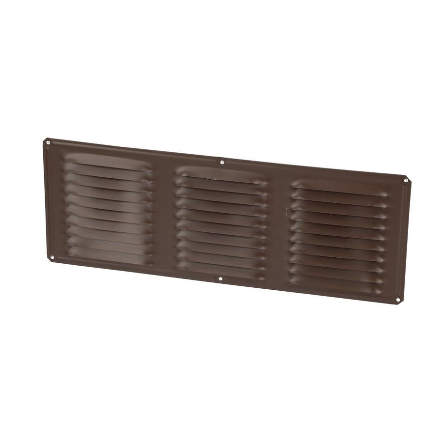 Air Vent 6-in L Brown Aluminum Soffit Vent