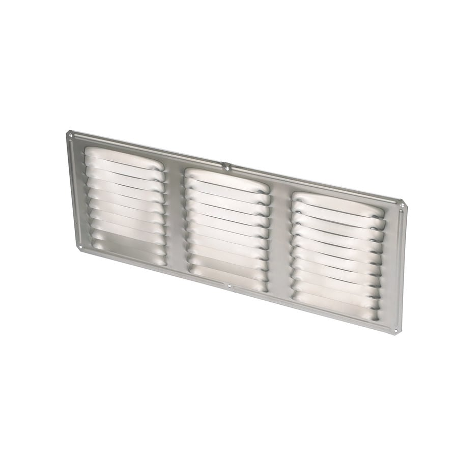 Air Vent 6-in L Mill Aluminum Soffit Vent