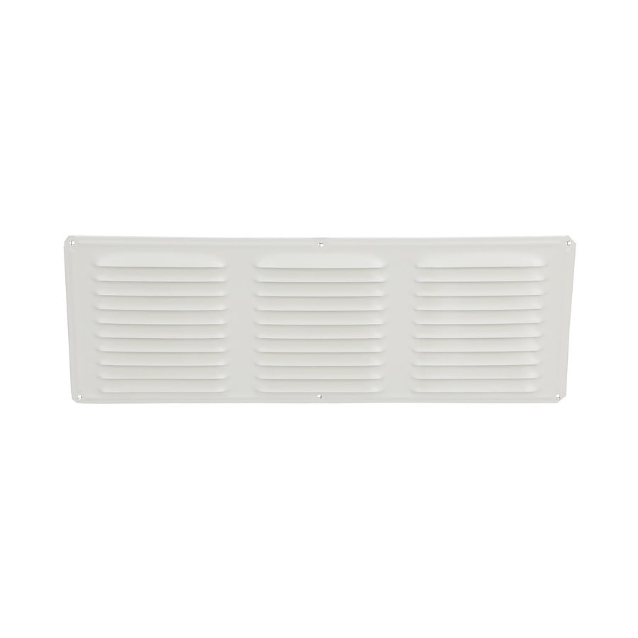 Air Vent 6-in L White Aluminum Soffit Vent