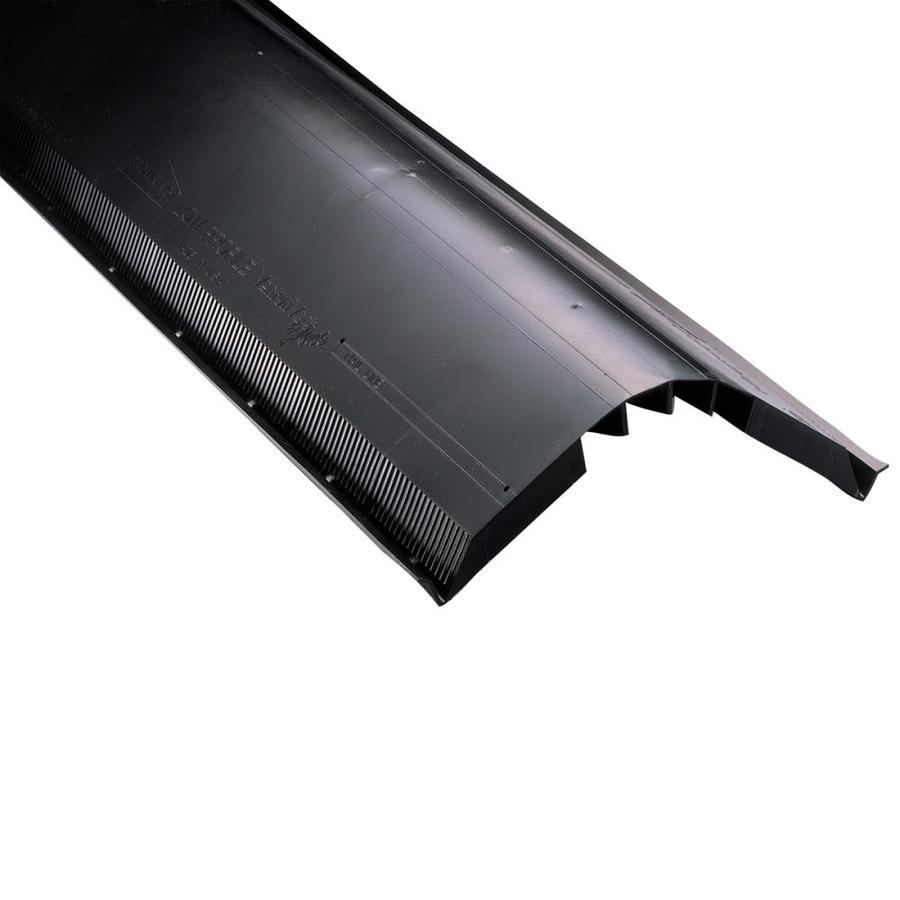 Air Vent 14-in x 48-in Black Plastic Stick Roof Ridge Vent
