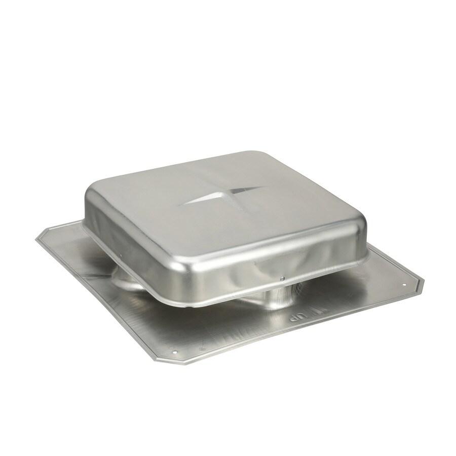 Air Vent Gray Aluminum Square Roof Louver