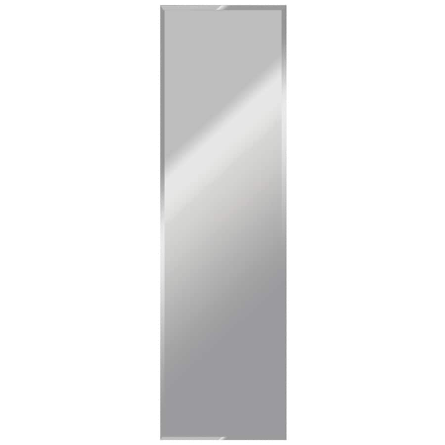 Gardner Glass Products 16-in x 60-in Silver Beveled Rectangle Frameless Traditional Wall Mirror