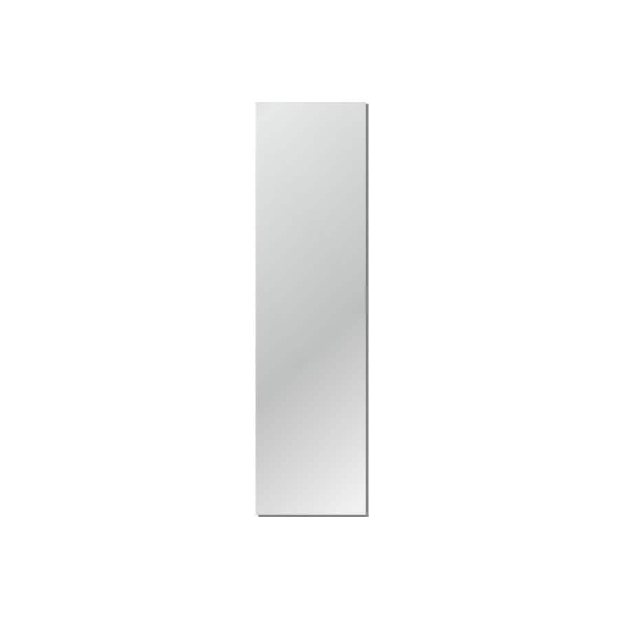 Gardner Glass Products 16-in x 60-in Silver Polished Rectangle Frameless Traditional Wall Mirror