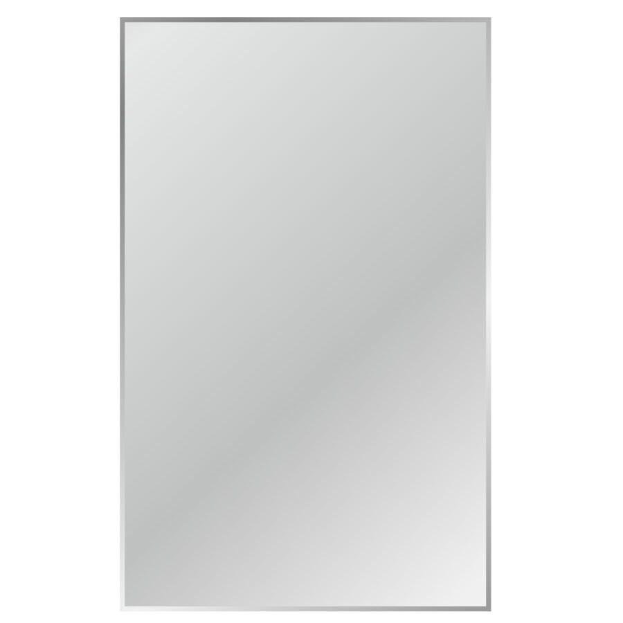 Gardner Glass Products 24-in x 48-in Silver Beveled Rectangle Frameless Traditional Wall Mirror