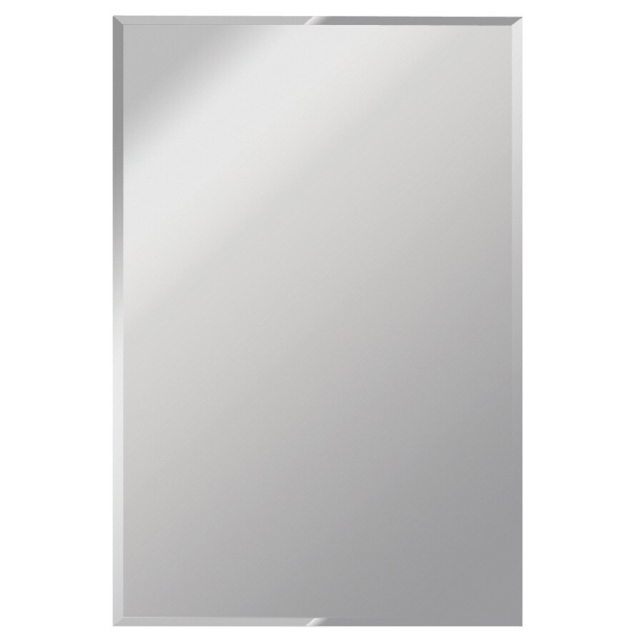 Shop gardner glass products 30 in x 36 in silver polished for Mirror 30 x 36