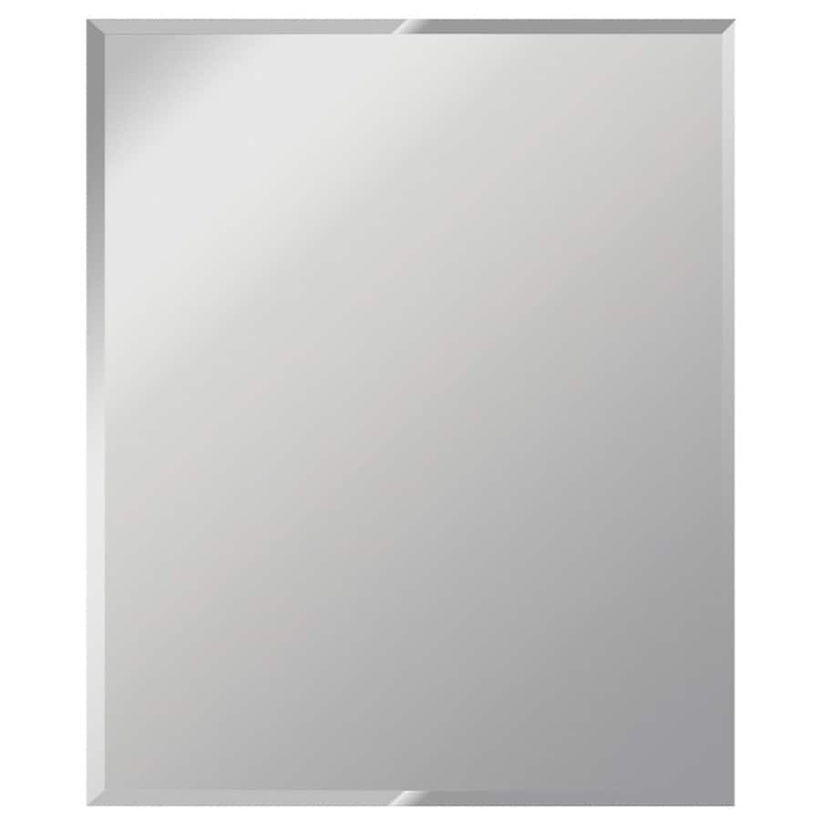 shop dreamwalls 30 in x 40 in silver beveled rectangle frameless traditional wall mirror at. Black Bedroom Furniture Sets. Home Design Ideas