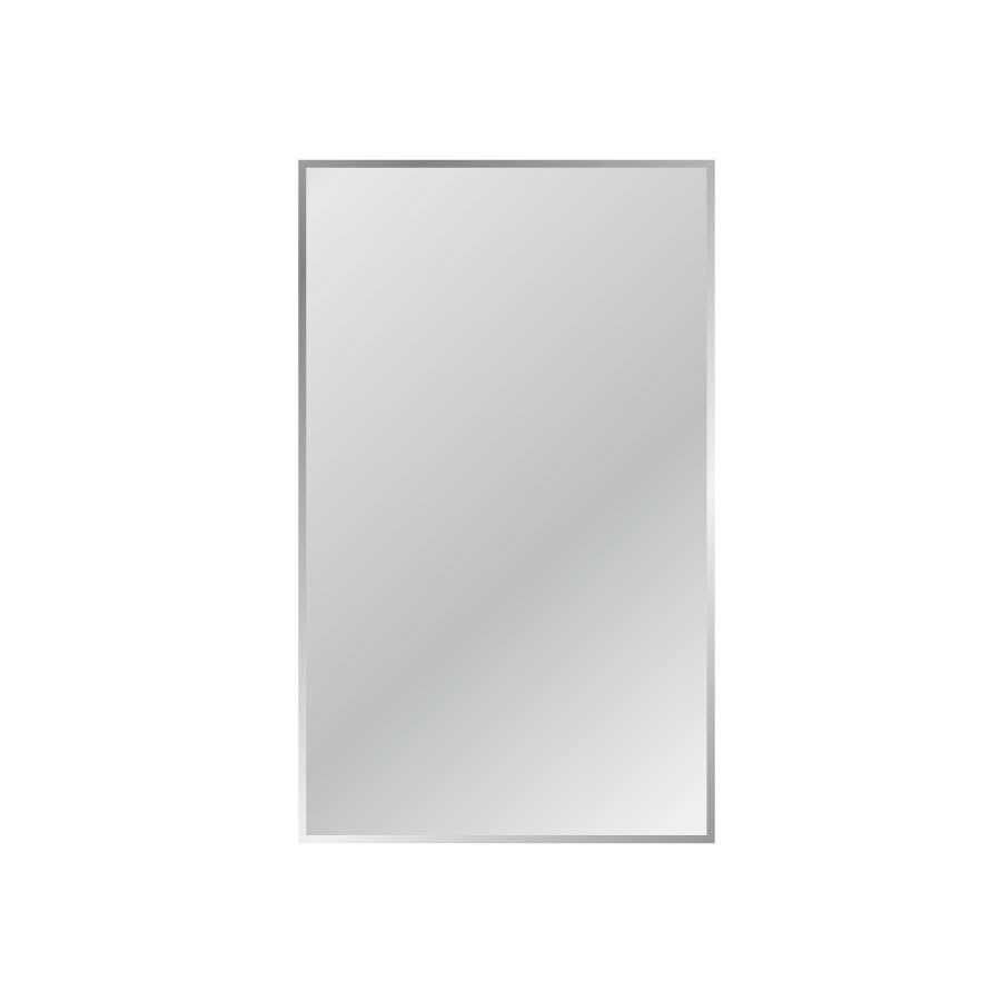 Shop gardner glass products 36 in x 60 in silver beveled for Glass mirrors for walls