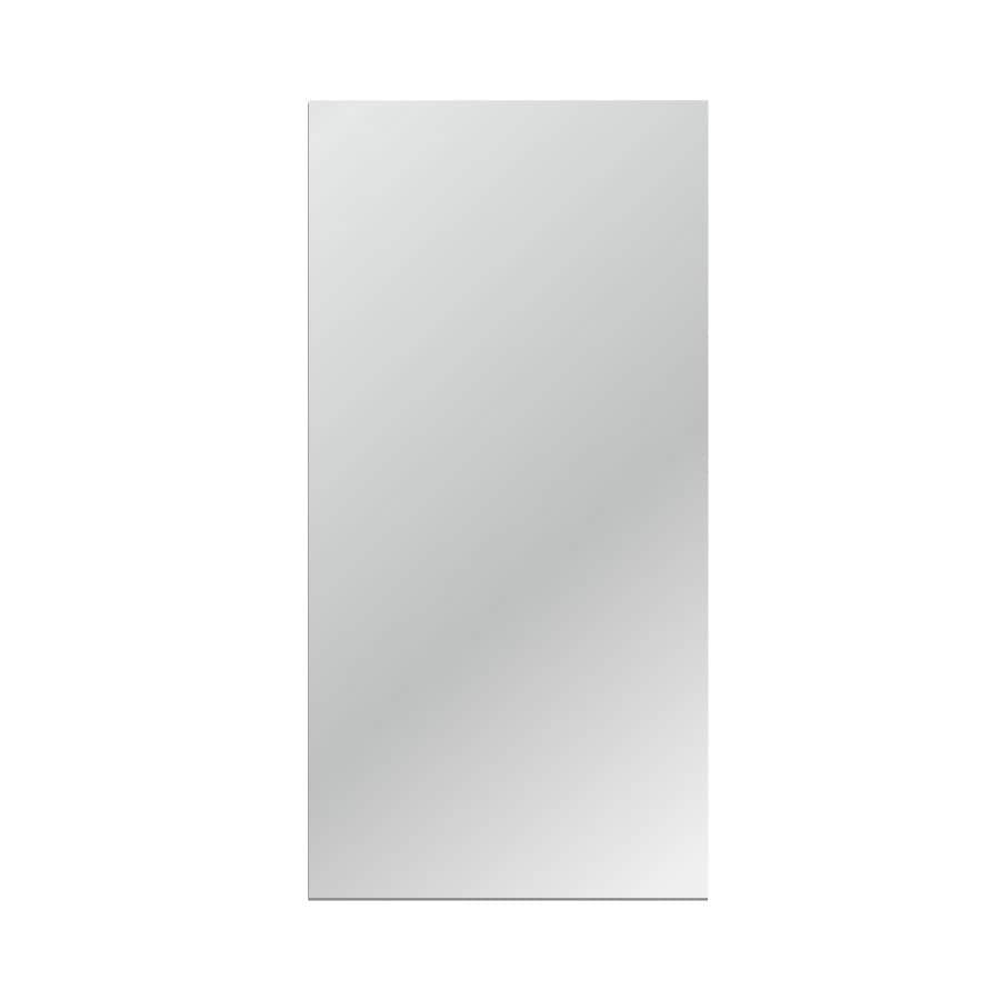 Gardner Glass Products 30-in x 60-in Silver Polished Rectangle Frameless Traditional Wall Mirror