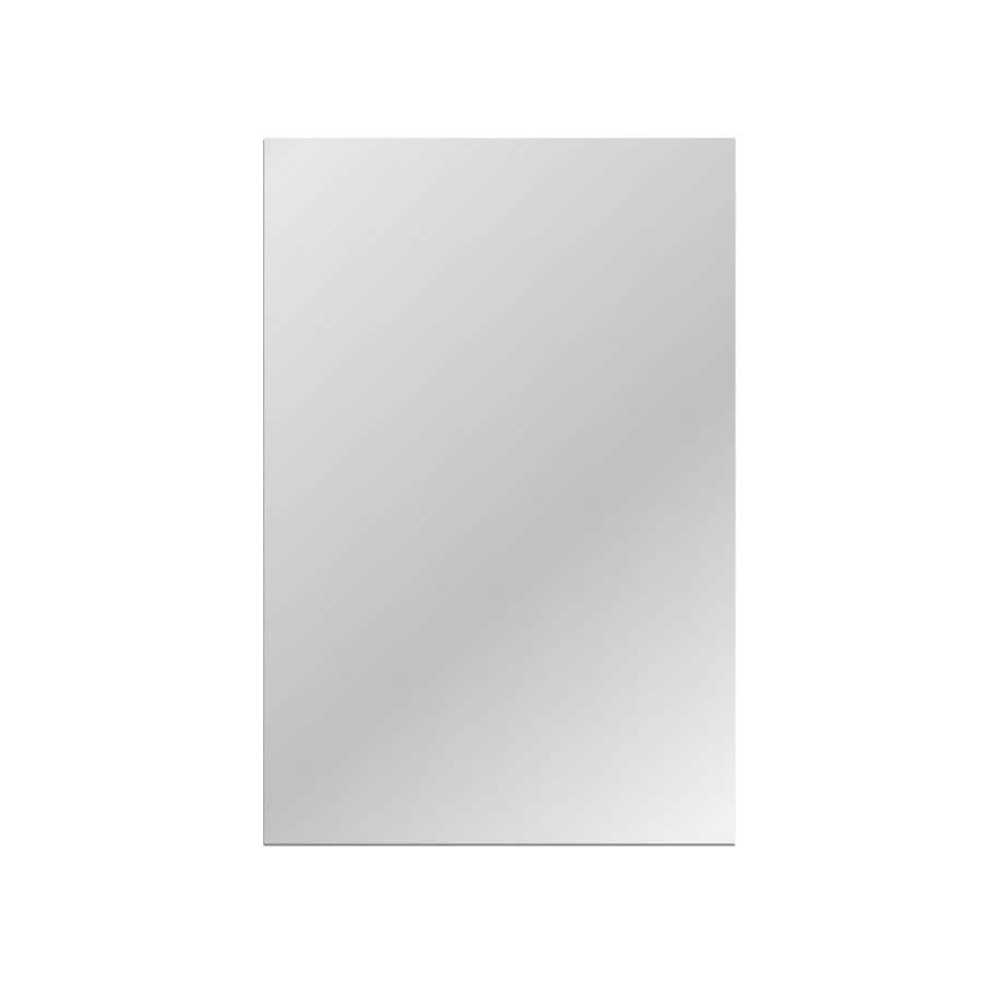 Gardner Glass Products 36-in x 54-in Silver Polished Rectangle Frameless Traditional Wall Mirror