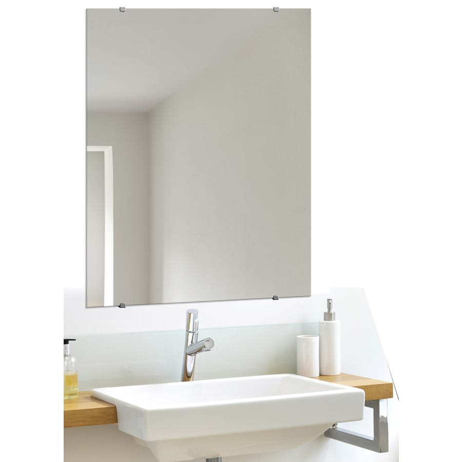 Style Selections 24-in x 30-in Beveled Edge Mirror