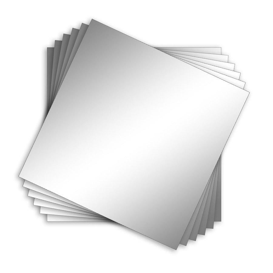 Style Selections 12-in x 12-in Silver Polished Square Frameless Traditional Wall Mirror
