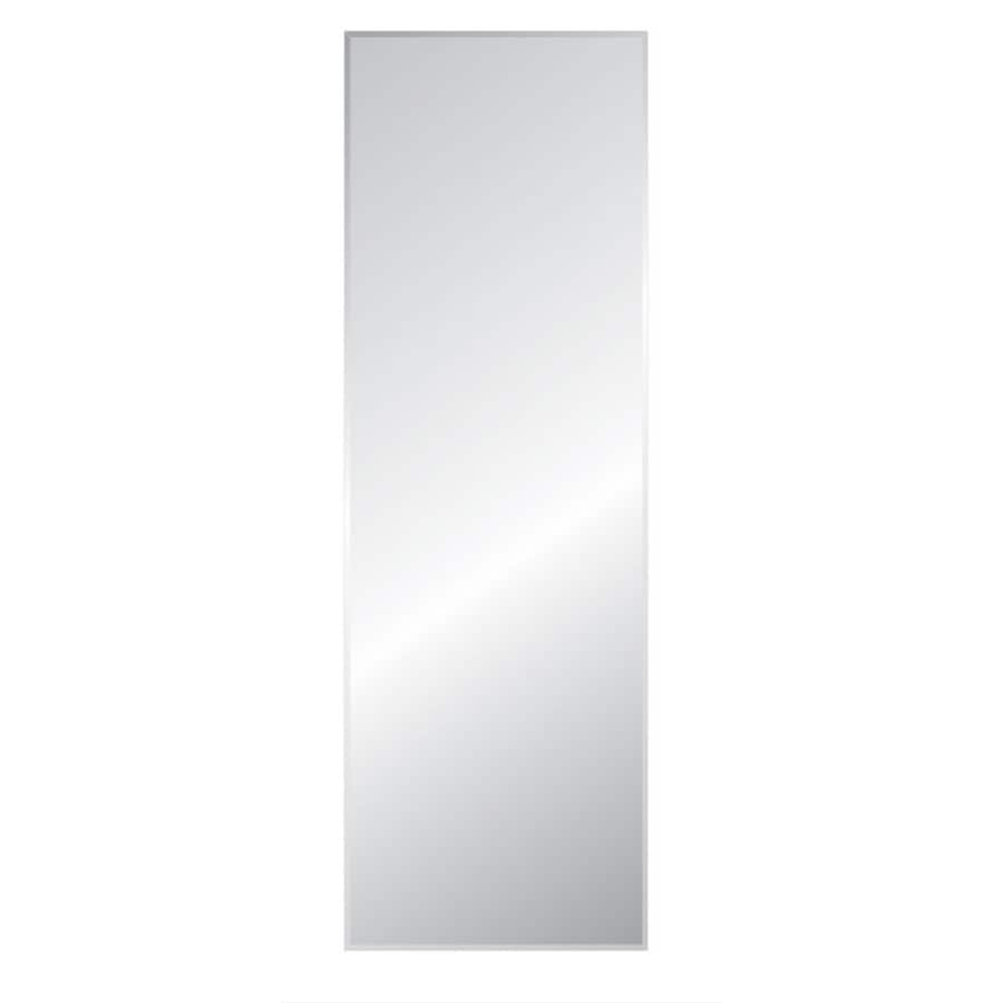 Style Selections 16-in x 58-in Silver Beveled Rectangle Frameless Traditional Wall Mirror