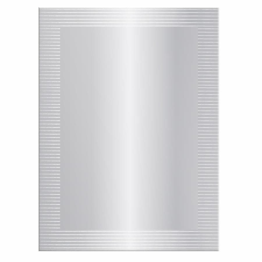 allen + roth 24.125-in x 36.125-in Silver Polished Rectangle Frameless Contemporary Wall Mirror