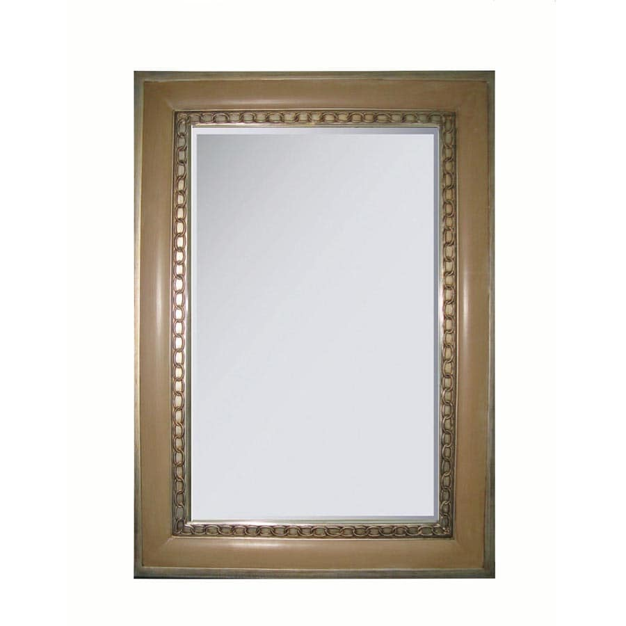allen + roth 25.25-in x 36.75-in Brownstone Walkup and Antique Silver Rectangular Framed Wall Mirror